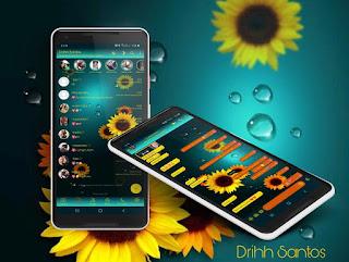 Sun Flowers Theme For YOWhatsApp & Fouad WhatsApp By Driih Santos