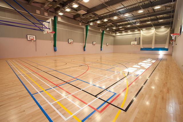 Sàn gỗ cao su - phòng tập thể thao