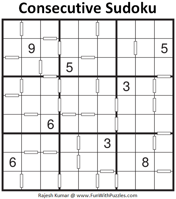 Consecutive Sudoku Puzzle (Fun With Sudoku #341)