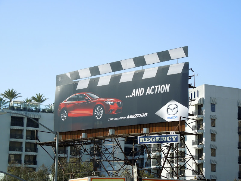 Mazda6 clapperboard billboard
