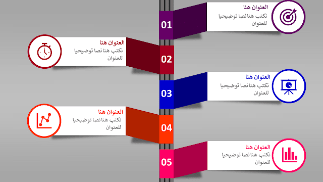 أنفوغرافيك بخمس عناصر