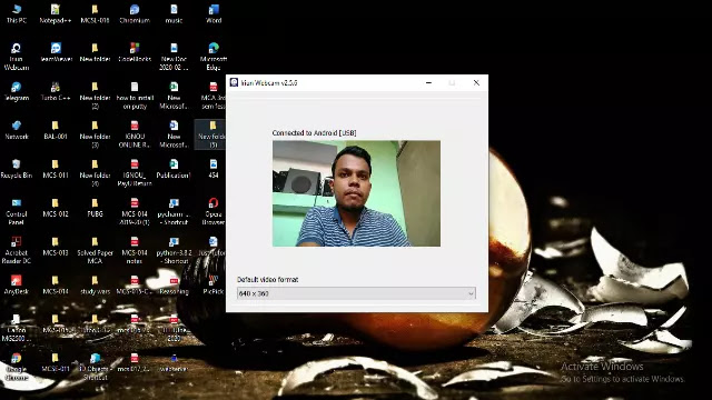 connect phone as webcam