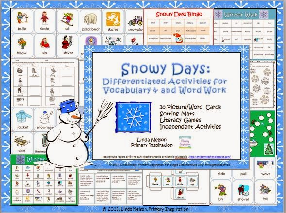 http://www.teacherspayteachers.com/Product/Snowy-Days-Vocabulary-and-Word-Work-1610058