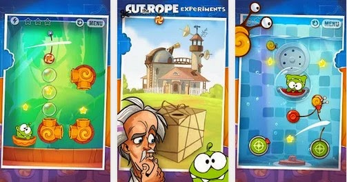 Cut the Rope-Experiments HD v1.7.2 Modded Apk