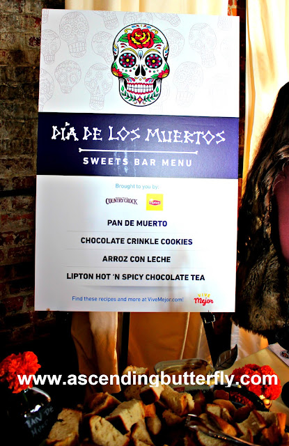 Dia De Los Muertos Sweets Bar sponsored by Country Crock and Lipton at We All Grow Summit speaks at #WeAllGrowNYC 2015