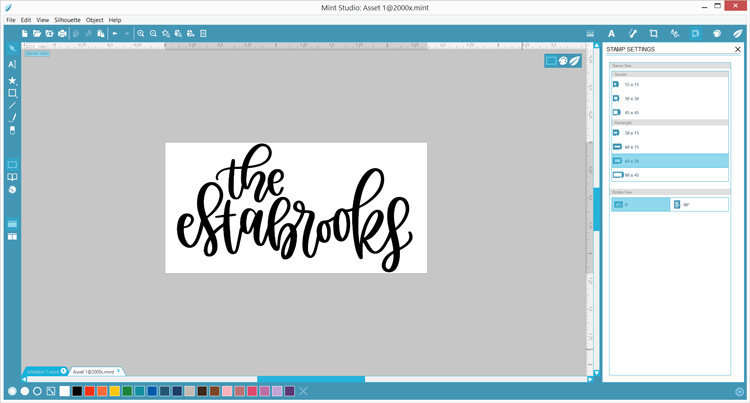 import your lettering onto Mint Studio