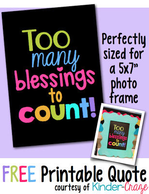 "FREE ""Too Many Blessings to Count"" inspirational print"