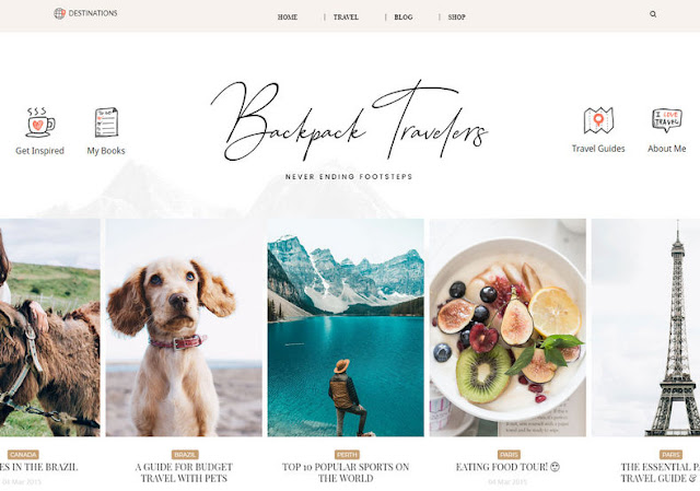 BackPack Clean Blogger Template. Free Download