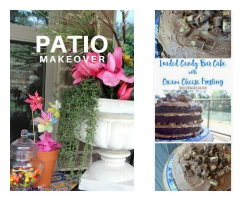 patio makeover loaded candy bar cake Home Crafts by Ali features from Ultimate Pinterest party week 160