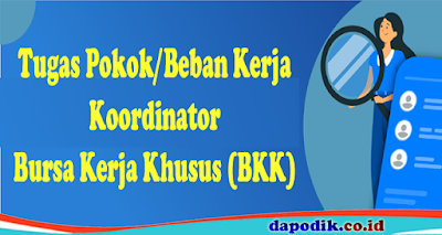 Tugas Pokok/Beban Kerja Koordinator Bursa Kerja Khusus (BKK)