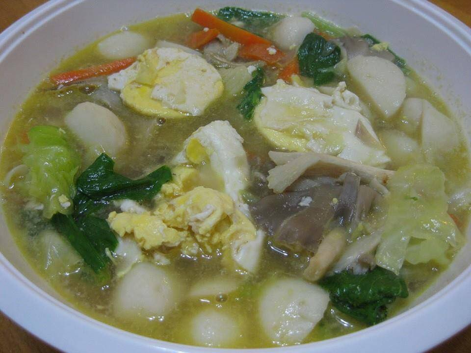 resepi sup sayur telur