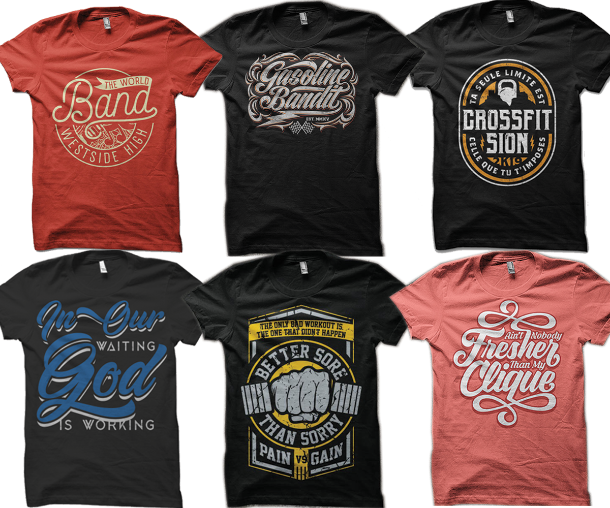 Bulk t shirt design services