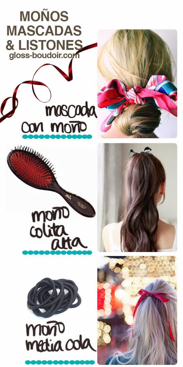 dc6796f0d Darle un giro a tu peinado no necesariamente tiene que ser complicado. Con  un simple accesorio como un moño o una mascada