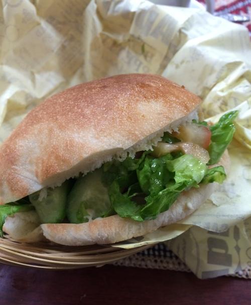 falafel sandwich israel
