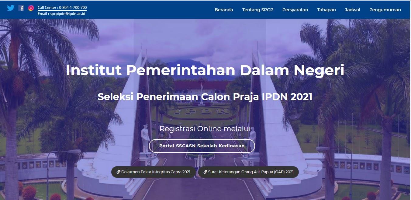 Persyaratan Pendaftaran Seleksi Penerimaan Calon Praja ...