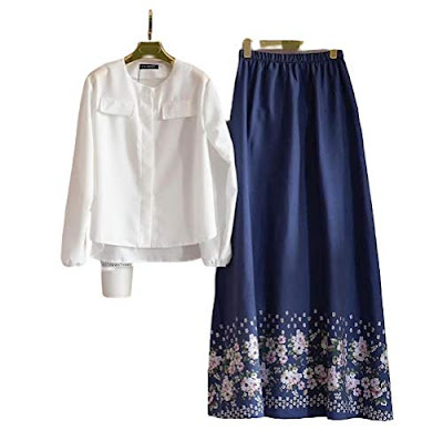 Top with Floral Skirt For Women