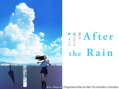 A high school girl, head tilted back against a wall on a bright blue day, an umbrella leaning against the wall