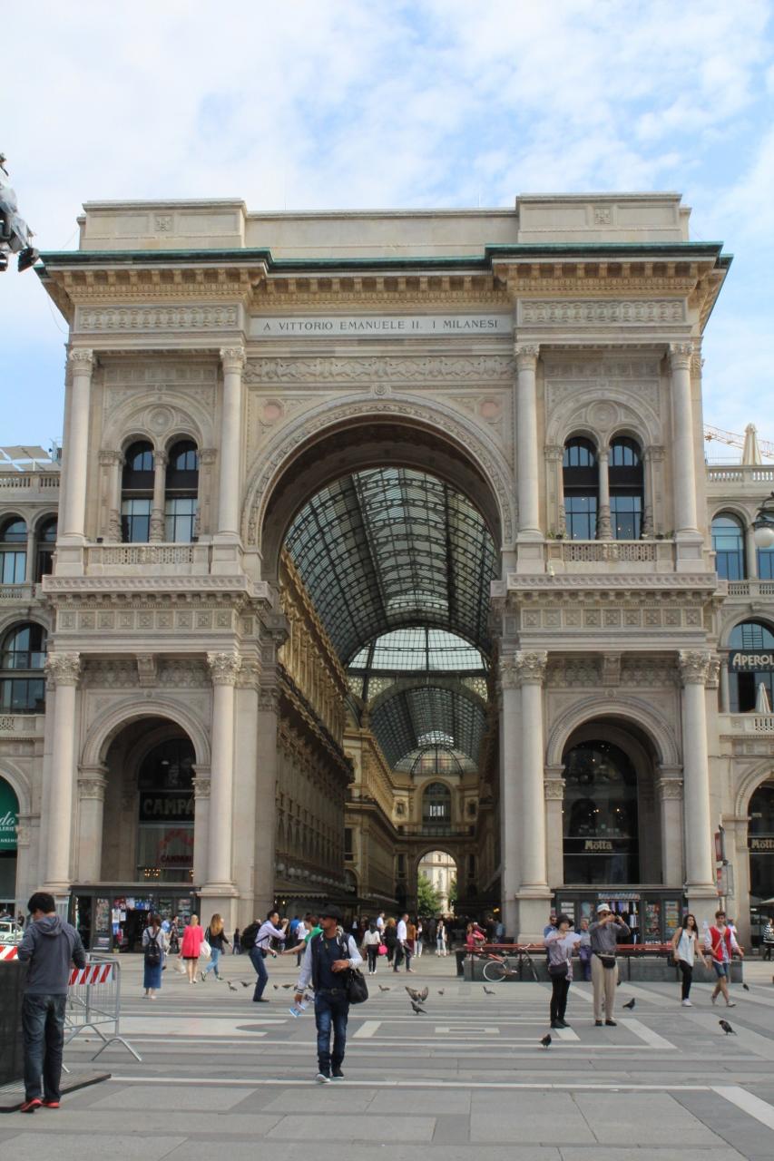 Front of Galleria Vittorio Emanuele II in Milan