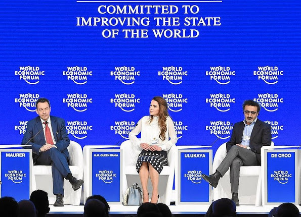 Queen Rania At The 2016 World Economic Forum, WEF