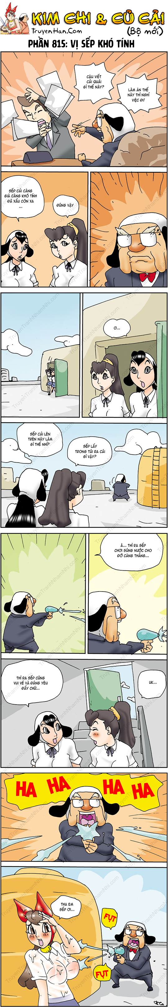 Kim Chi & Củ Cải (bộ mới) phần 815: Vị sếp khó tính