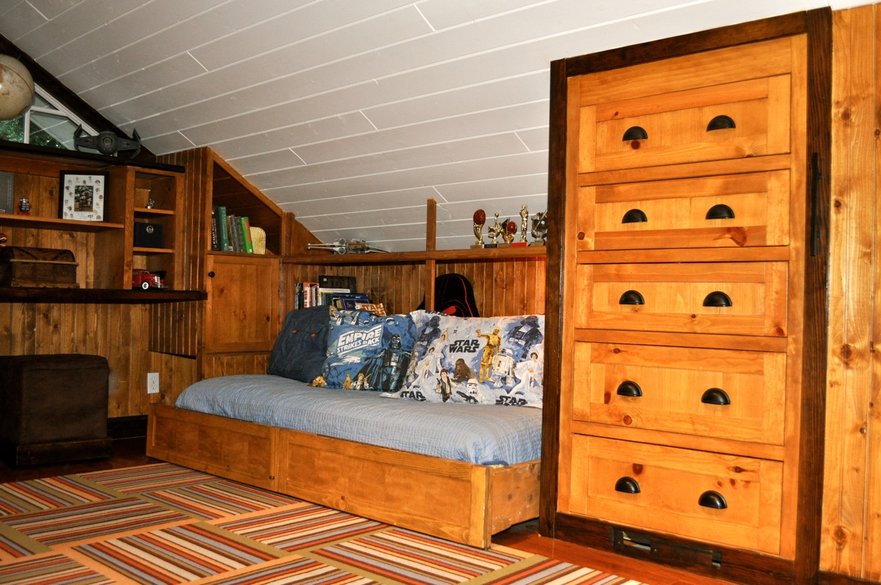 Remodelaholic Amazing Attic Renovation Boys Bedroom And
