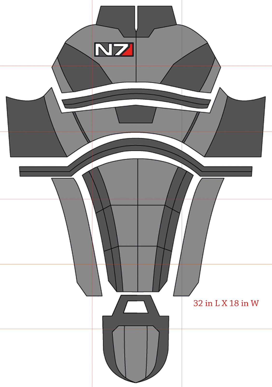 N7 armor pepakura template related keywords n7 armor for Mass effect 3 n7 armor template