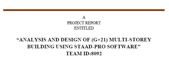 Civil Engineering Project Report PDF | Seminar Topics for Civil Engineering