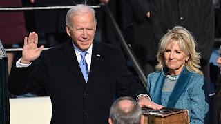 Biden inauguration of the President of America
