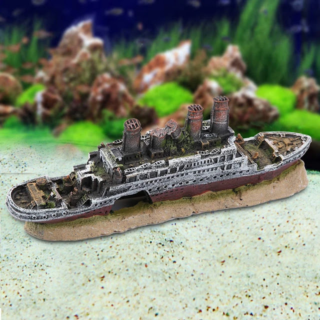 Lost-Wrecked-Boat-Ship-Model-Fish-Tank
