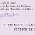 El príncipe Juan Carlos sucesor de Franco