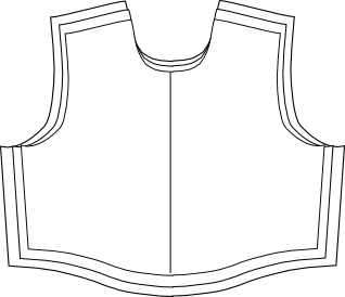 Graded nest of a bodice pattern piece