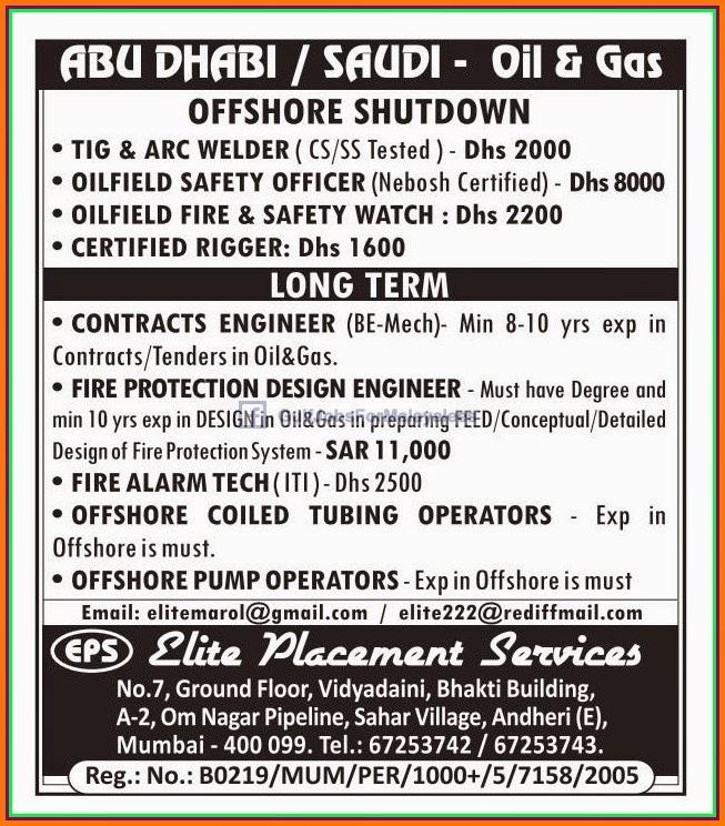 Offshore Jobs in Mumbai Job Vacancies  | maihydgireab ml