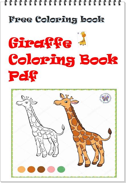 Giraffe Coloring Book Pdf