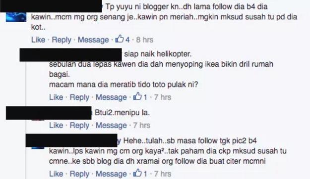 """Blogger Dikecam Kerana """"Berpura-Pura"""" Hidup Susah Diawal Perkahwinan."""
