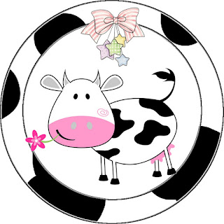 Cow and Patchwork  Toppers or Free Printable Candy Bar Labels.