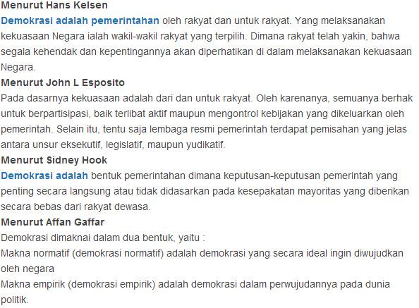 Pengertian Demokrasi Macam Dan Sejarah Demokrasi Pancasila Indonesia