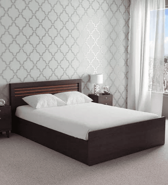 Kuruma Queen Size Storage Bed in Wenge Finish by Mintwud