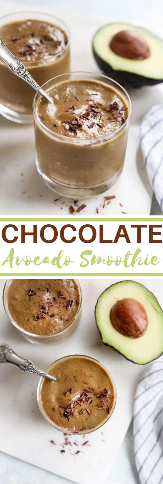 Chocolate Avocado Smoothie #drinks #healthy #smoothie #breakfast #vegan