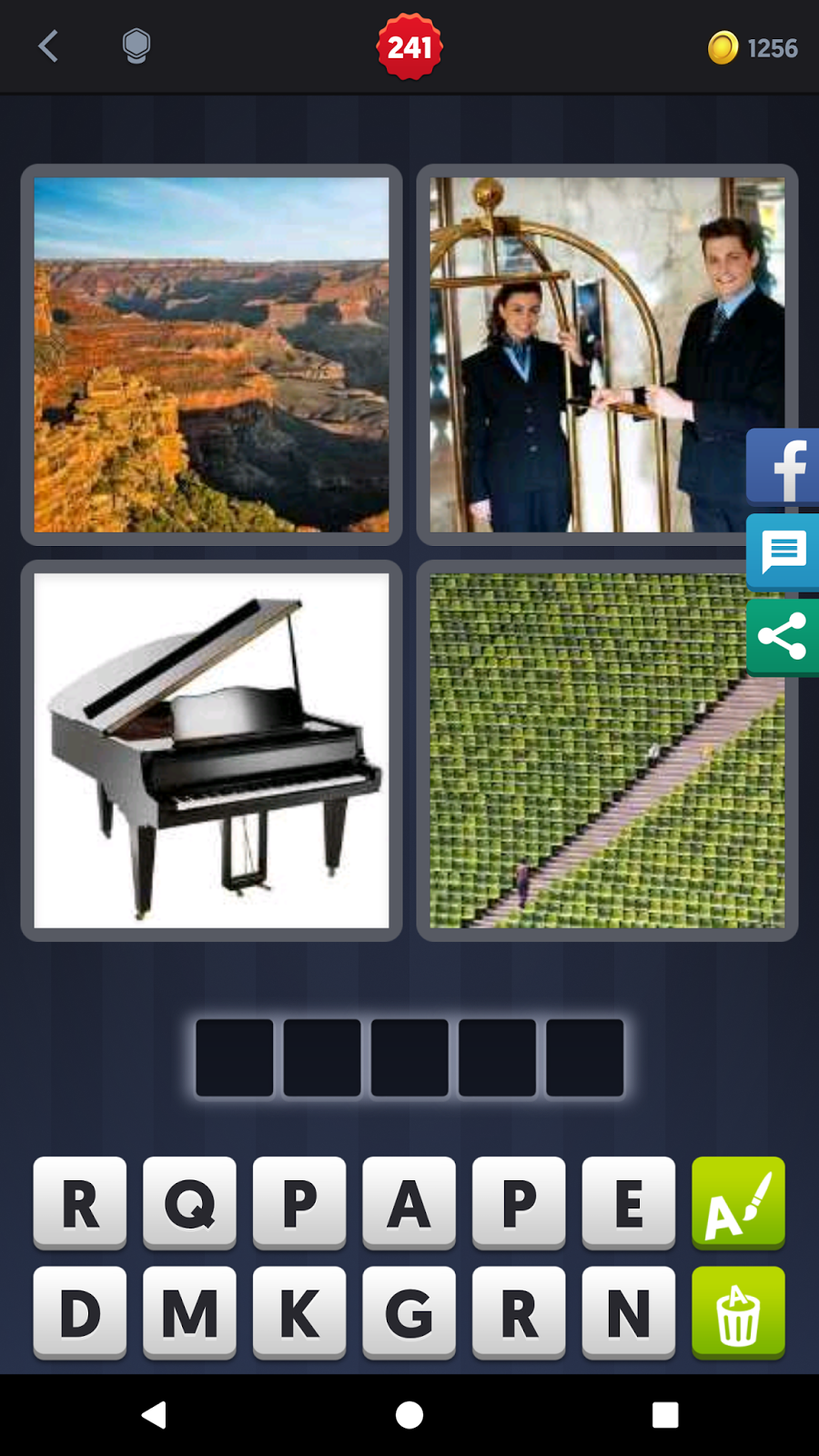 4 Pics 1 Word Answers Solutions Level 241 Grand