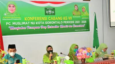 Misnawaty S Nuna terpilih Ketua Muslimat NU Kota Gorontalo