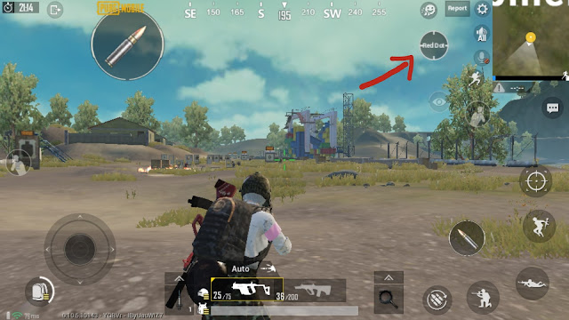 How to enable the oscilloscope replacement feature on the screen of PUBG Mobile