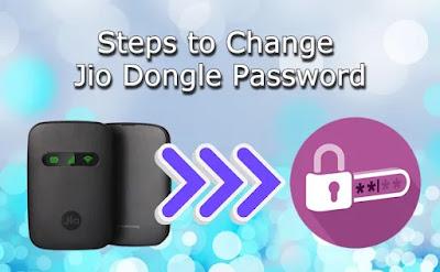 Jio dongle password change