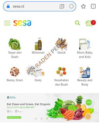 Belanja Sayur Online di Sesa.ID - www.radenpedia.com