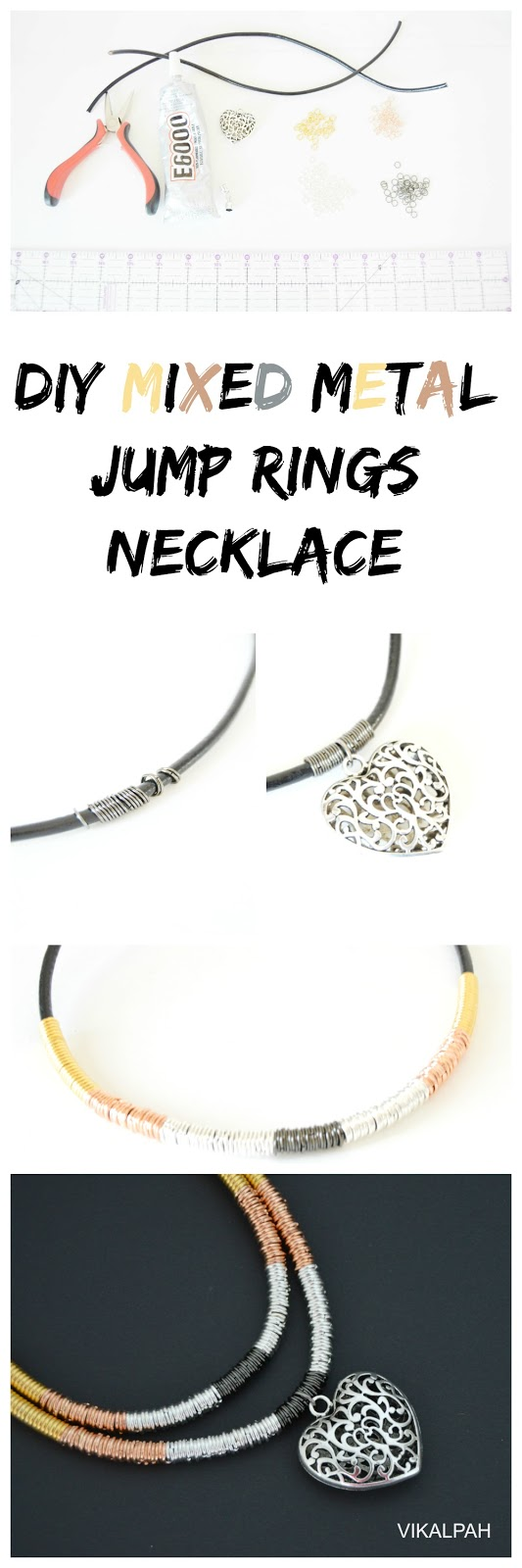 DIY necklace using jump rings