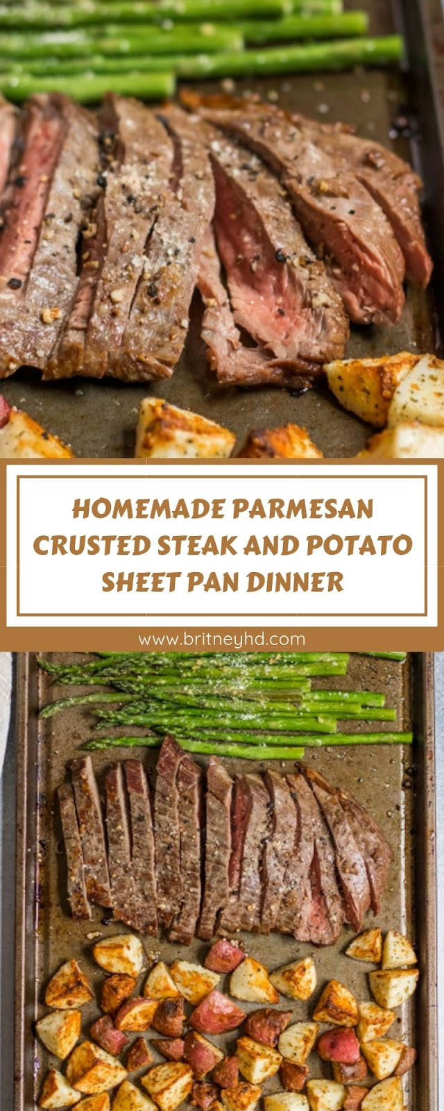 HOMEMADE PARMESAN CRUSTED STEAK AND POTATO SHEET PAN DINNER