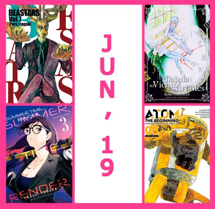 Novedades Milky Way Ediciones junio 2019