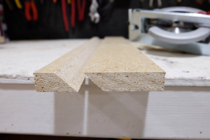 cutting French cleat