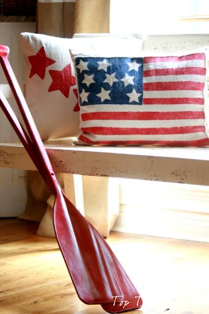 patriotic pillow DIY