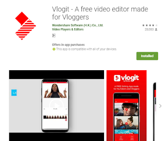 A free video editor made for Vloggers