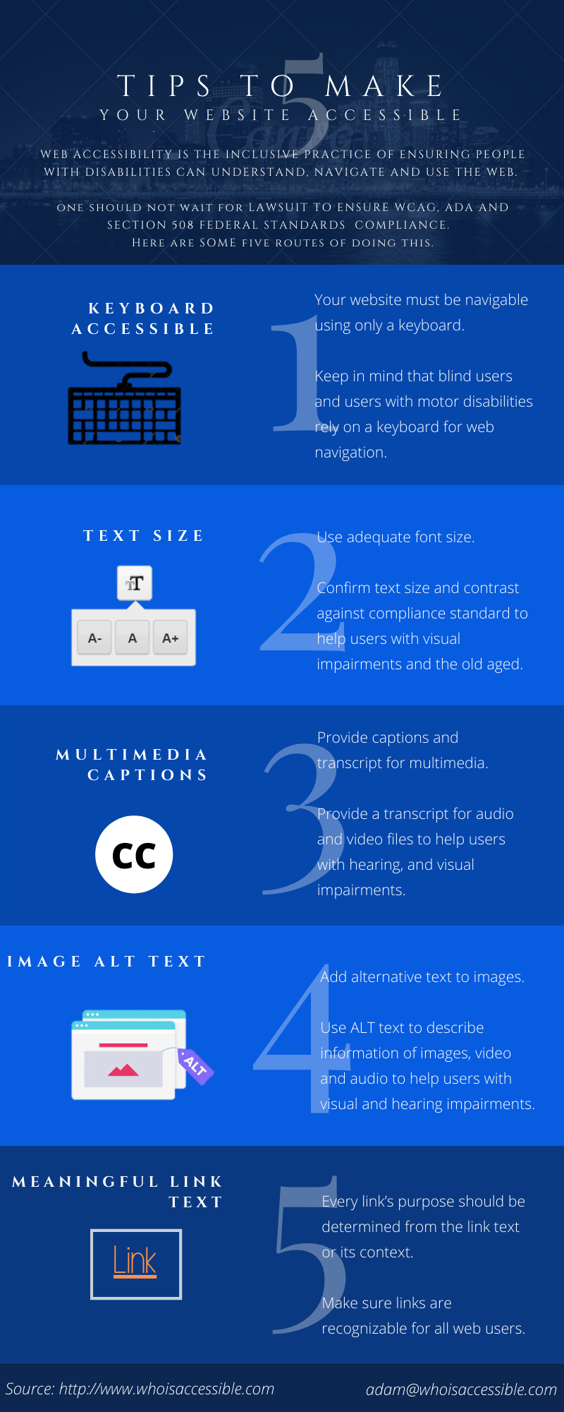 5 Tips to Make Your Web Accessible #infographic